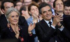 Pret Francijas prezidenta amata kandidātu ierosina kriminālizmeklēšanu par sievas 'viltus darbu'