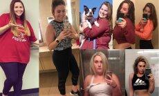 Iedvesmojoši foto: Sievietes sociālajos tīklos atrāda savu uzvaru pār lieko svaru