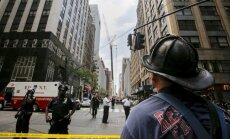 Ņujorkā sagruvusi četru stāvu ēka; cietuši vismaz trīs cilvēki