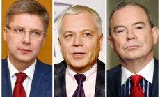 Desmiti tūkstošu ienākumi, apjomīgi darījumi – Lembergs, Ušakovs un Sesks atskaitās par turību