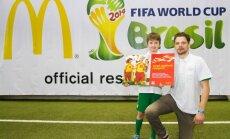 Latviju Pasaules kausā futbolā pārstāvēs astoņus gadus vecais Linards Lazdāns