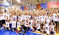Foto: Porziņģis tiekas ar 250 jauniešiem no Latvijas sporta skolām un basketbola klubiem