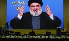 'Hezbollah' vadītājs aicina Izraēlu pārtraukt gaisa uzbrukumus Sīrijā