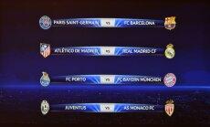Čempionu līgas ceturtdaļfinālā 'Saint-Germain' pret 'Barcelona un Madrides klubu derbijs