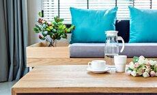 Paklājs, masīvas mēbeles un džungļi: kā atdzīvināt neitrālu interjeru