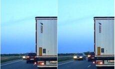 Par mata tiesu no sadursmes: Brocēnos autovadītājs veic bīstamu apdzīšanas manevru