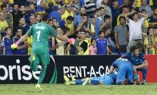 Zenit celebrate after scored Maccabi Tel Aviv