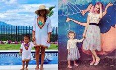 Kāda mamma, tāda meita: apburošas un vienādi tērptas daiļavas