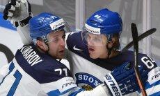 Somijas hokejisti pārliecinoši iekļūst PČ pusfinālā