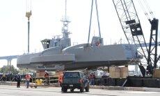 Video: Pentagona eksperimentālais bezpilota kuģis ierodas Sandjego