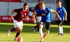 Latvijas futbola izlase jūnijā pārbaudes spēlē tiksies ar Igauniju
