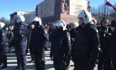 16. marta pasākumi pie Brīvības pieminekļa - bez ministriem un Mūrnieces