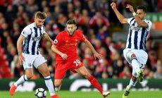 'Liverpool' izcīna uzvaru, taču mača beigās ielaistu vārtu dēļ nekļūst par Anglijas futbola premjerlīgas līderiem