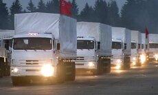 Krievijas 'humānās palīdzības' karavāna tuvojas Ukrainas robežai