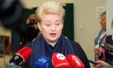 Seima vēlēšanās lietuvieši balsoja par pārmaiņām, vērtē Grībauskaite