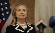 Klintone: Irāna pastiprina atbalstu Sīrijas režīmam