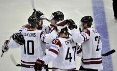 Latvijas hokeja izlase svarīgā PČ mačā tiekas ar Austriju