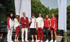 Fotoreportāža: Latvijas olimpisko tērpu prezentācija