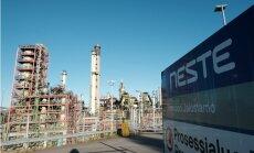 Foto: Ieskats 'Neste' naftas pārstrādes rūpnīcā Somijā