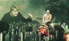 Putins uz lāzera lāča un Baltijas okupācijas slavināšana – Krievijas propagandas sensācija