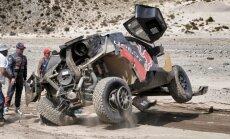 Dakaras rallija līderis Lēbs piedzīvo smagu avāriju astotajā posmā