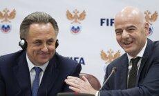 President Gianni Infantino and Sports Minister Vitaly Mutko
