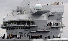 Krievija jauno Lielbritānijas lidmašīnu bāzes kuģi nosauc par vieglu mērķi
