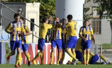 'Ventspils' futbolisti mačā pret Daugavpils 'Daugavu' pagarina uzvaru sēriju