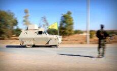 Karte: Kurdu spēki ar ASV atbalstu turpina uzvaras gājienu pret 'Daesh'