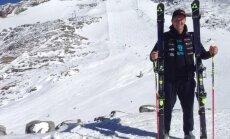 Kalnu slēpotājs Zvejnieks ieņem 23.vietu Eiropas kausa posmā slalomā
