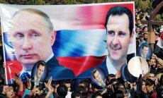 Irāna un Krievija ir pret 'ārējiem mēģinājumiem' mainīt režīmu Sīrijā, brīdina Kremlis