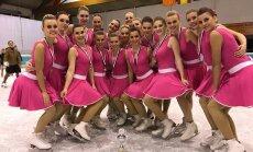 Latvijas sinhronās slidošanas komanda 'Amber' izcīna trešo vietu sacensībās Beļģijā