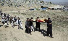 Sprādzienā Kabulā bojāgājušo skaits pieaudzis līdz 60