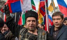 Foto: Kremļa organizētās 'antimaidana' demonstrācijas