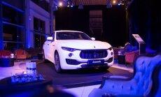 Foto: Rīgā prezentēts 'Maserati Levante' apvidus automobilis