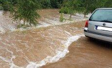 Ūdens līmenis Rēzeknē un citās upēs Austrumlatvijā turpina celties