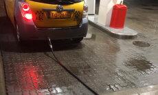 Foto: No Siguldas līdz Čiekurkalnam ar gāzes uzpildes šļauku astē