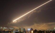ASV un sabiedrotie devuši raķešu triecienus Sīrijai (plkst.16.21)