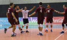 Latvijas vīriešu volejbola izlasei EČ kvalifikācijas izšķirošajā kārtā būs jātiekas ar Igauniju