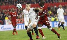 'Liverpool' izlaiž trīs vārtu pārsvaru un UEFA Čempionu līgā spēlē neizšķirti ar 'Sevilla'