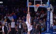 Video: Porziņģim NBA pārbaudes spēļu dienas skaistākais 'danks'