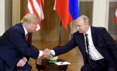 Foto: Helsinkos sācies Trampa-Putina samits