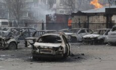 Mariupoli un posteni pie Volnovahas apšaudīja separātisti, paziņo HRW