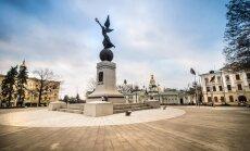 Harkovā apgānīts piemineklis Neatkarīgajai Ukrainai; kopumā aizvadīta mierīga nakts