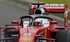 Fetels un Hamiltons uzrāda ātrākos apļa laikus F-1 sezonas noslēdzošā posma treniņbraucienos