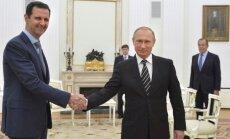 Putins ANO rezolūciju par sankcijām pret Sīriju nosauc par nepiemērotu