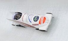 Latvijas bobsleja ekipāžām sestā un astotā vieta Eiropas kausa sacensībās
