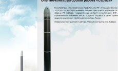 Publicēts attēls ar Krievijas raķeti 'Sātans II', kura spēj iznīcināt veselas valstis