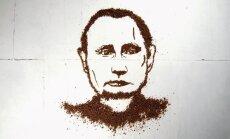 Lietuviešu māksliniece izveido Putina seju. Un izbaro to vistām