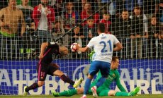 Malaga Jonathan Rodriguez scores second goal to Barca